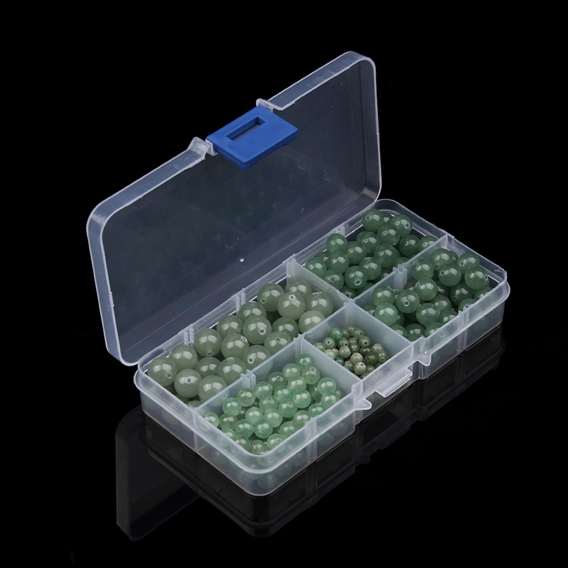 340pcs/box High Quality 4/6/8/10mm Round Natural Stone Green Aventurine Spacer Beads Fit DIY Bracelets Jewelry Making Findings
