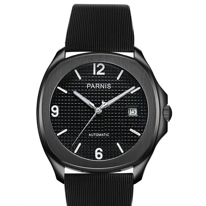 Parnis Business Seriers Mens Fashion Automatic Self- Wind Mechanical Watch Wristwatch