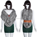 Осень и зима женщины в трикотаж 100% натуральная кроличий мех длинная шарф глушитель мех пашмина шаль tb144