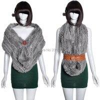 Good quality! 2014 Autumn and winter women's fashion knitted 100% genuine rabbit fur long scarf muffler fur Pashmina Shawl tb144