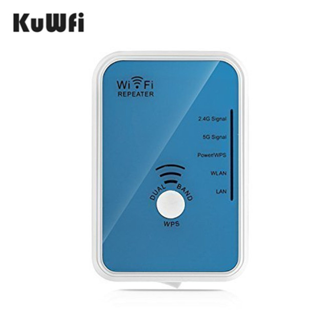 KuWFi AC Wifi Repeater Dual Band Wireless N Wi Fi Range Extender ...