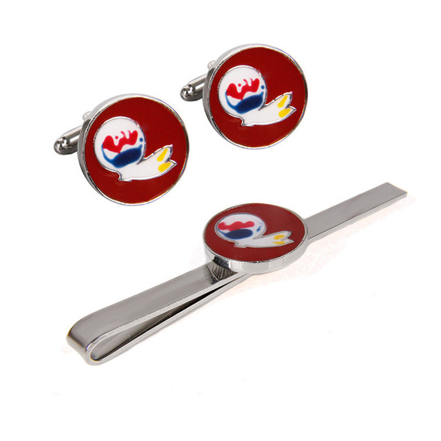 Cf0752 Mens Washington Redskins Cufflinks And Tie Clip Bar Gift Set