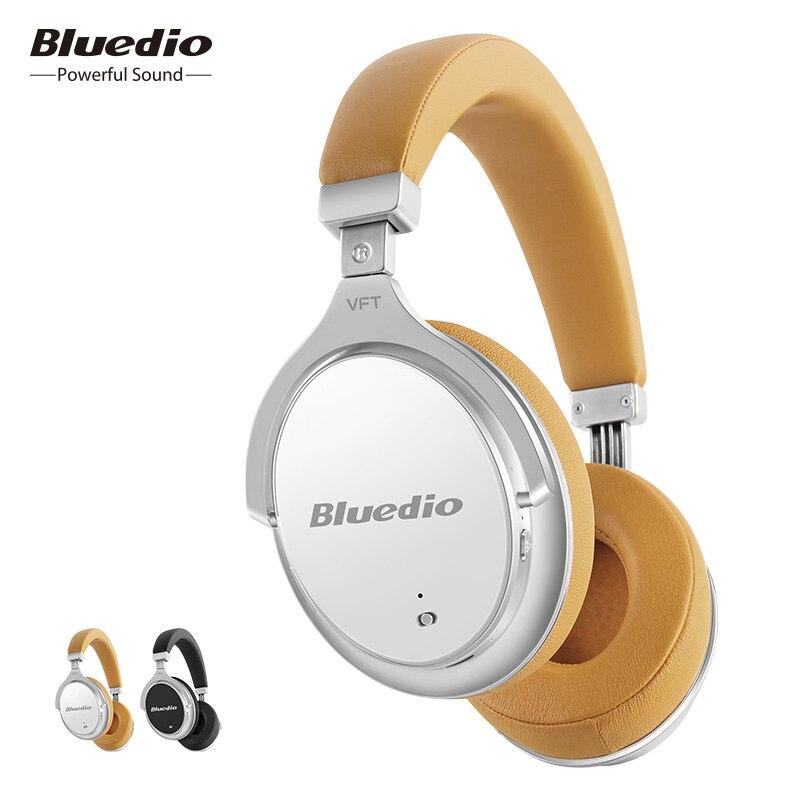 2017 New Bluedio F2 Attivo Con Cancellazione del Rumore Cuffie Senza Fili di Bluetooth Auricolare senza fili con Microfono per i telefoni