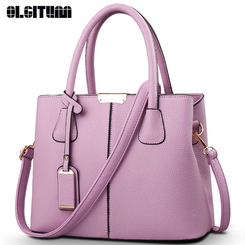 OLGITUM Hot Sale 2017 New Fashion Big Bag Women Shoulder Messenger Bag Ladies Handbag HB001