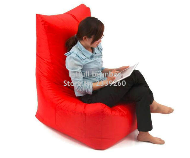 Cover Only No Filler Red Bean Bag L Back Support Shape Waterproof Beanbag Chair