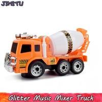 Elektroniczny Uniwersalny Koła Pojazdu Inżynierii Betonu Samochodów Diecasts Model Zabawki dla Chłopca Dźwięki LED Migające Światła Muzyczne Zabawki