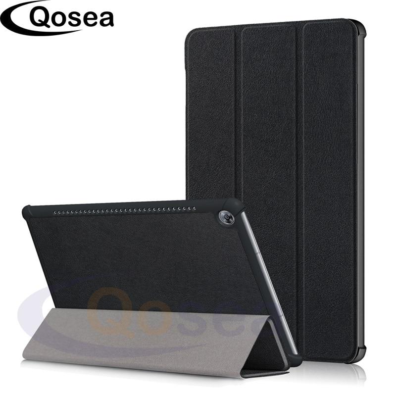Qosea Pour Huawei MediaPad M5 10.8 De Luxe Étui Flip PU En Cuir Smart Cas de Stand Pour Huawei MediaPad M5 8.4 Tablet Couverture de Stand