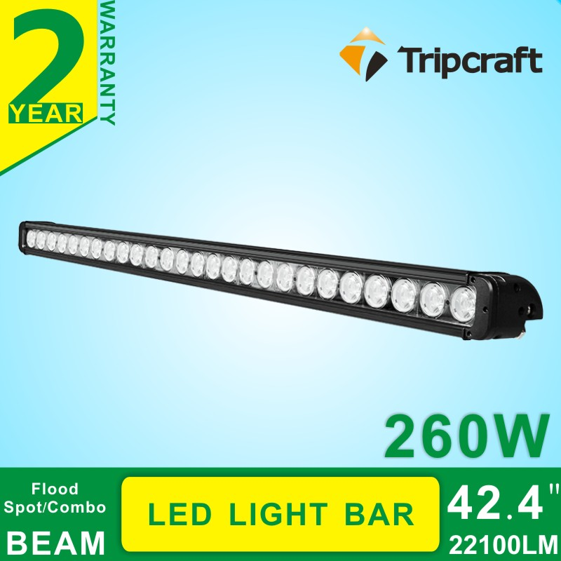 Free shipping !42.4 inch 10~70v /260w auto high power led work light bar for truck trailer suv techni