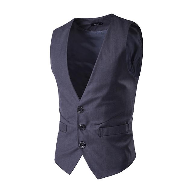 Nova Chegada Men Suit Vest Único Breasted Jaqueta Negócio Dos Homens de Alta Qualidade Vestido de Colete