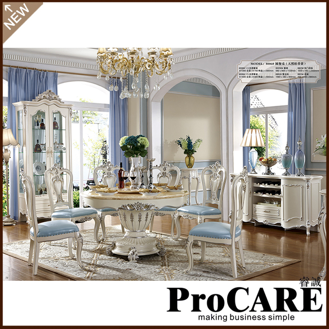 Luxury Italian Dining Room Furniture Marble Top Dining