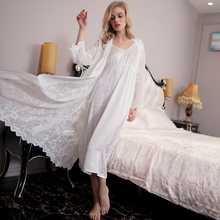Embroidery Sleepwear lady for