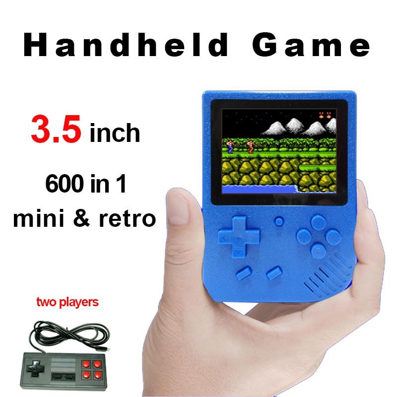 Ehrgeizig Mini Video Spiel Konsole 3,5 Zoll Bildschirm Retro Tasche Handheld-spiel-spieler 600 Klassische Spiele Eingebaute Gamepad Beste Geschenk Für Kind Videospiele Portable Spielkonsolen