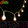 Small Ball LED String 220V 10m 100LED / Battery Box Power Supply 4m 40LED Lighting Strings.