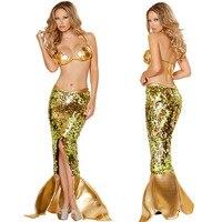 FREE SHIPPING Sea Girl Mermaid Bra Costume Tail Skirt Halloween Adult Princess Dress Hen Night