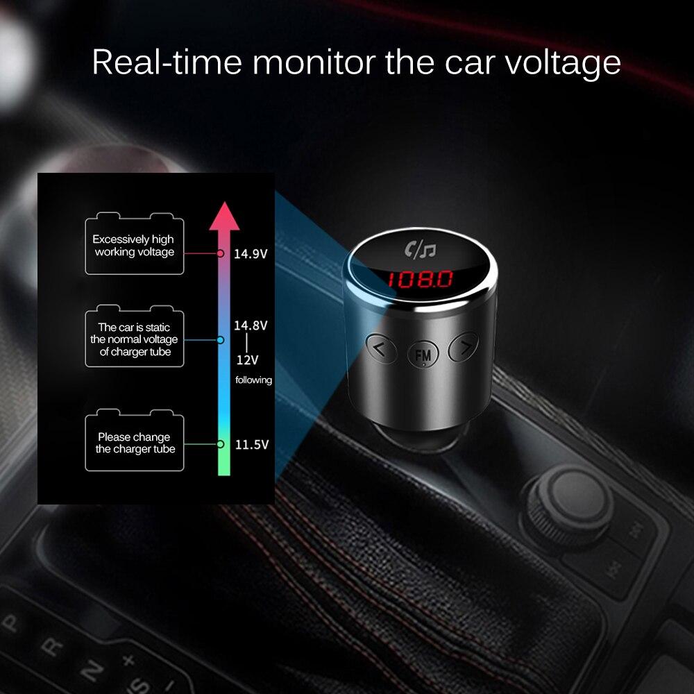 US $12 29 35% OFF|Nulaxy FM Transmitter Bluetooth V4 2 Wireless Hands free  Car Kit Radio Transmitter MP3 Player Support U disk Dual USB Port-in FM