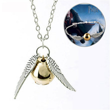 10pcs Harri Potter Keychain Men Vintage Style Angel Wing Charm Golden Snitch Keychain Model Action figure toys best Xmas gifts(China)