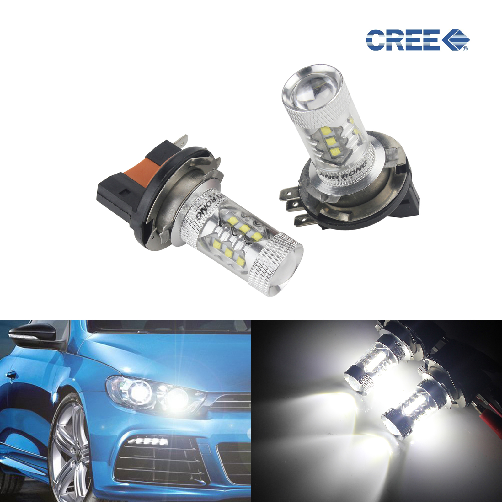 Audi Q7 4L 501 W5W Blue Interior Door Bulb LED High Power Light Upgrade