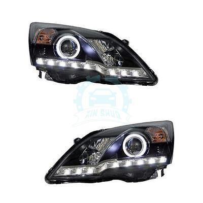 1Pair LED Angel Eyes Front Headlight For Honda CRV 2007-2011