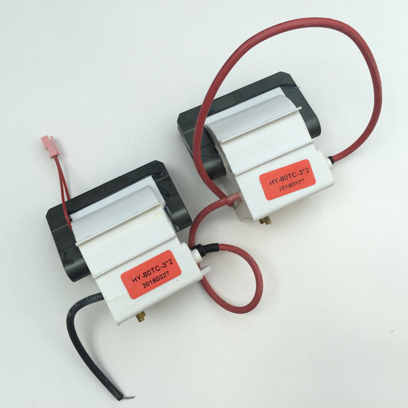 one pair (2pcs) Hongyuan HY-T80 80W Co2 Laser PSU Flyback Transformer / Coil For Power Supply Part Co2 Laser engraving Cutting 2pcs lot 60w laser power supply psu high voltage flyback hongyuan hy t60 co2 engraving cutting machine ignition coil