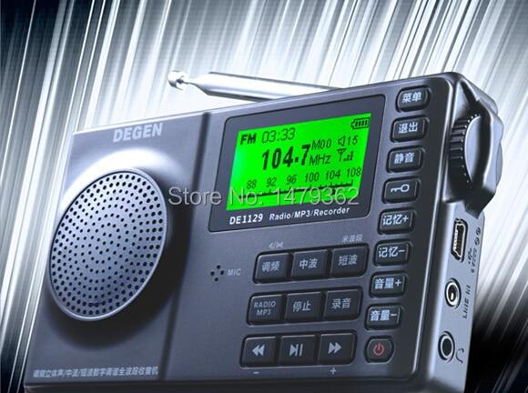 New DEGEN DE1129  DSP AM//FM//SW Radio /& Voice Recording and MP3 /< NO BATTERY />