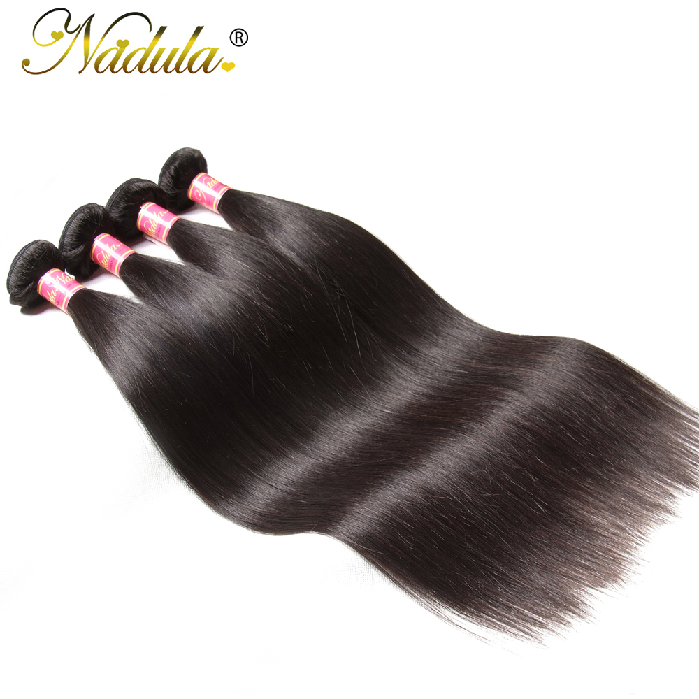Nadula Hair 4 Bundles Indian Hair Weaves 8 30inch Straight Hair Bundles Human Remy Hair Extention