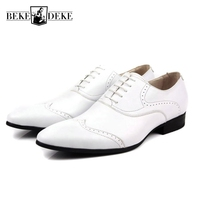 Nuovo Nero Bianco Brillante Patent Leather Mens Formale Intaglio Brogue uomo Office Party Abito Da Sposa Scarpe Oxford Lace Up Plus formato
