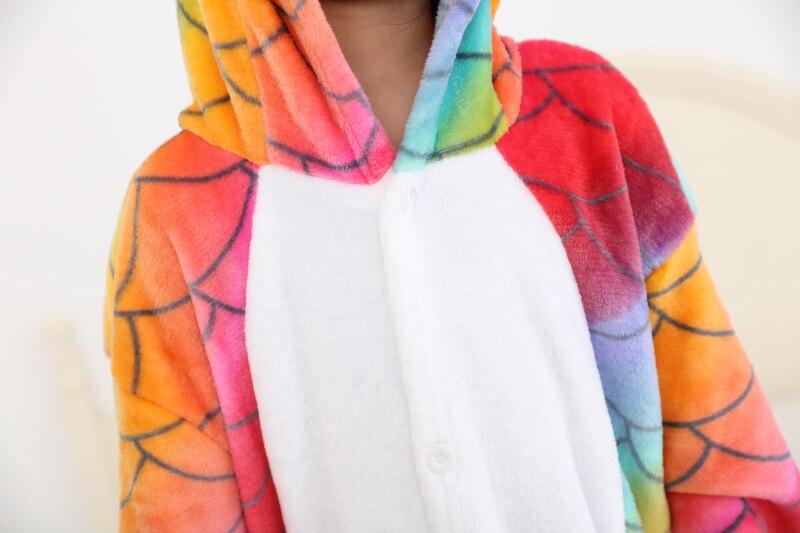 Рыбья чешуя кигуруми Единорог пижамы дети Для женщин мультфильм Аниме Onesie детская одежда для сна для мальчиков и девочек пижама de, младенче...