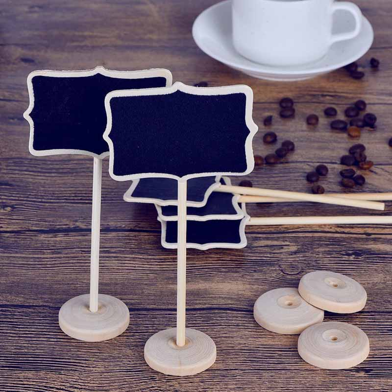 Mini Blackboard with Stand country Wedding baby shower bridal shower Party Table Numbers Place Card Birthday Food Dish Tag Sign image