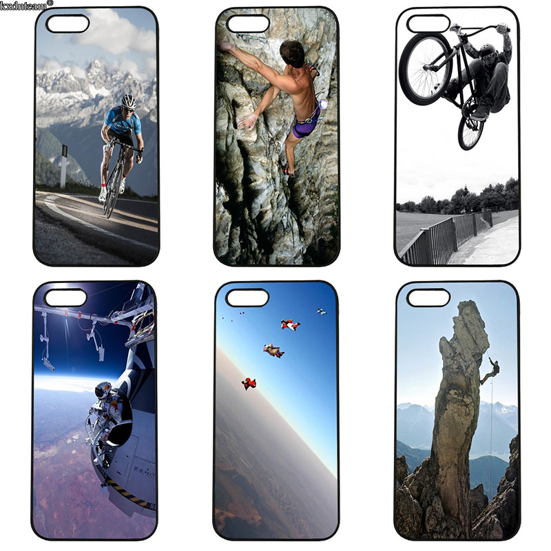 Hot Sale Love Extreme Sports Mobile Phone Cases Hard PC Cover for iphone 8 7 6 6S Plus X 5S 5C 5 SE 4 4S iPod Touch 4 5 6 Shell