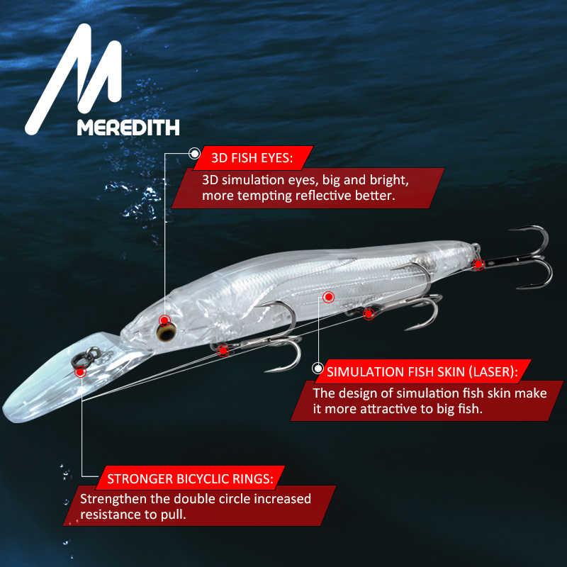 MEREDITH Minnow рыболовные приманки-Воблеры 110 мм 15,8 г искусственная жесткая приманка глубина 0-3 м медленно плавающий Jerkbait бас Щука приманка Снасть