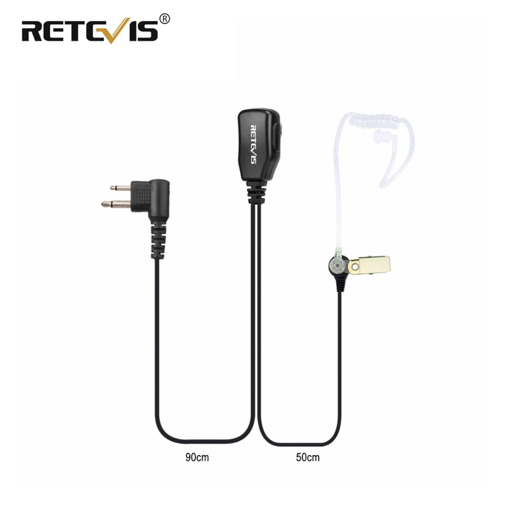 Retevis 2Pin PTT MIC Earpiece Acoustic Tube Headset For Motorola PRO1150 P040 CT150 CT150 For HYT TC-500 Walkie Talkie C9025A