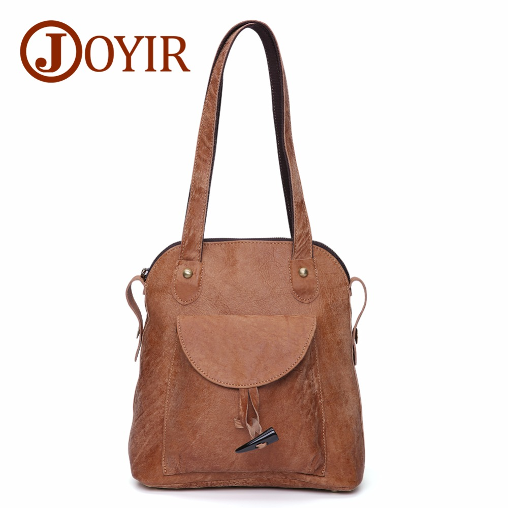 JOYIR Backpack Female Genuine Leather Women Backpacks Schoolbag For Girls Large Capacity Ladies Shoulder Bag Female Bags 3011