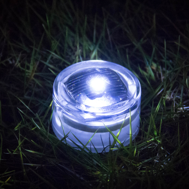 Waterproof Outdoor Driveway Traffic Solar Lights Flashing Led Underground Electronic Candle Courtyard Lamp 4pieces Lot