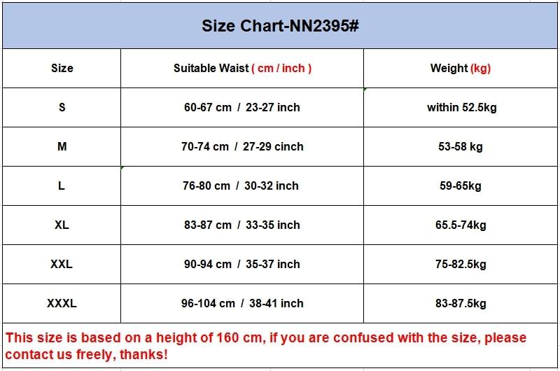 2395 Size Chart