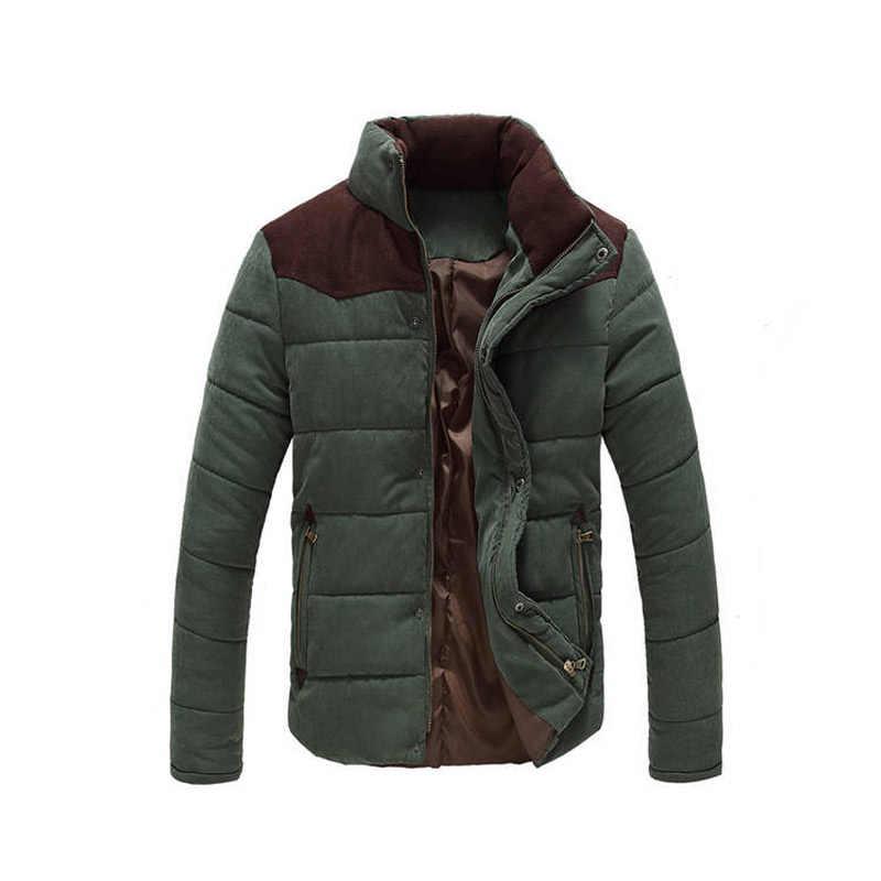 ドロップ配送の高級ブランド 2018 冬のジャケットの男性因果パーカー綿のコート男性生き抜くコート puls サイズ M-4XL 卸売