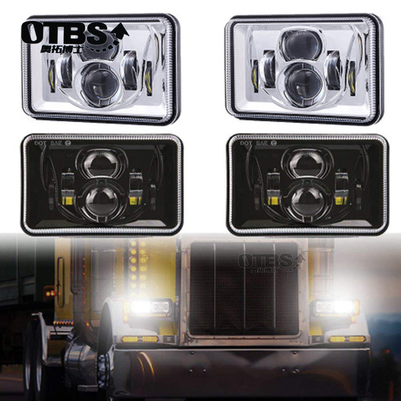 4X6 inch Car Led Headlight Square Light White Sealed Beam High/low Beam Replacement For Ford Trucks Offrord