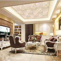QINGCHUN Custom Print 3D Fabric Textile Wallcoverings For Walls Cloth Foldable Ceiling Matt Silk For Living