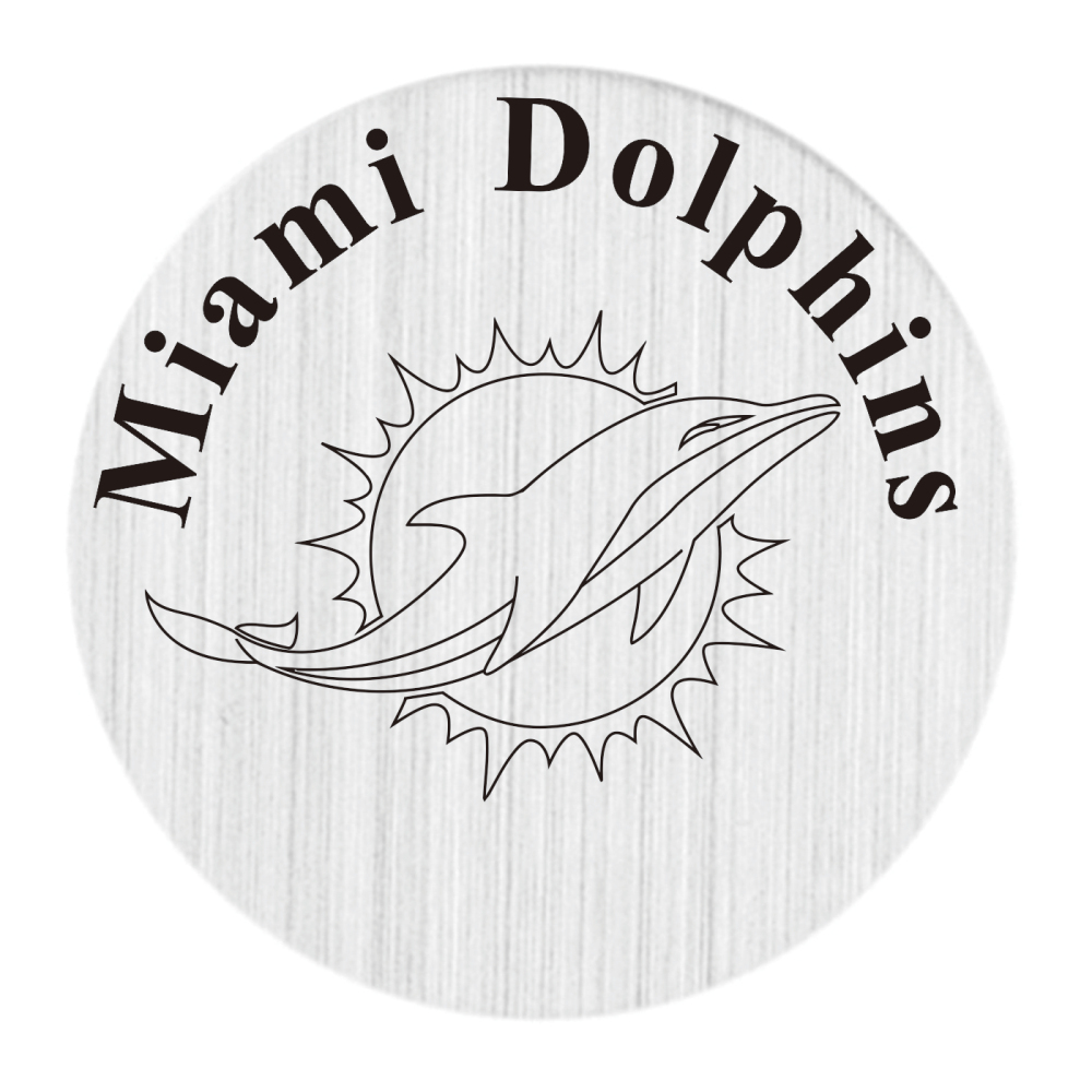 20PCS New Arrial Silver Living Locket Plate Miami Dolphins 22MM Locket Disk Fit 30MM Glass Floating Glass Locket