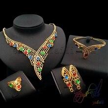 Free Shipping Fashion big jewelry display Gold moroccan wedding jewelry