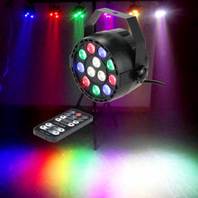 Lixada 15W 8 Channel Stage Light Laser Projector Dmx-512 Strobe Rgbw Led Stage Par Light Remote Control Party Disco Show Lamp(China)