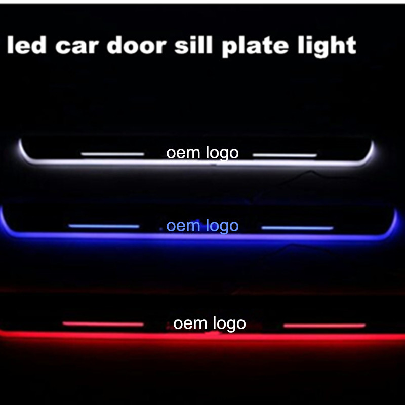 LED Car styling Moving Welcome Pedal Light Door Sill Scuff Plate Protector for BMW X5 E70 2007-2012