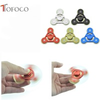TOFOCO EDC Fidget Spinners Hand Spinner 4 Gear Linkage Rotate ADHD Tri Finger Spinner Hand
