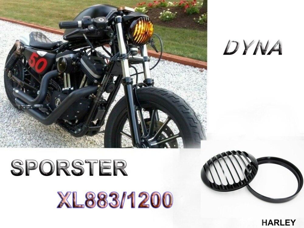 Черный фар алюминиевая крышка Харлей Спортстер 883 1200 dyna с Софтейла 48