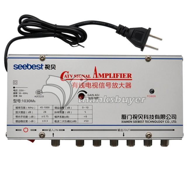 Seebest Original Autêntico Amplificador de Sinal de CATV Amplificador 30DB Qualquer Circuito Fechado de Televisão SB-1030M6