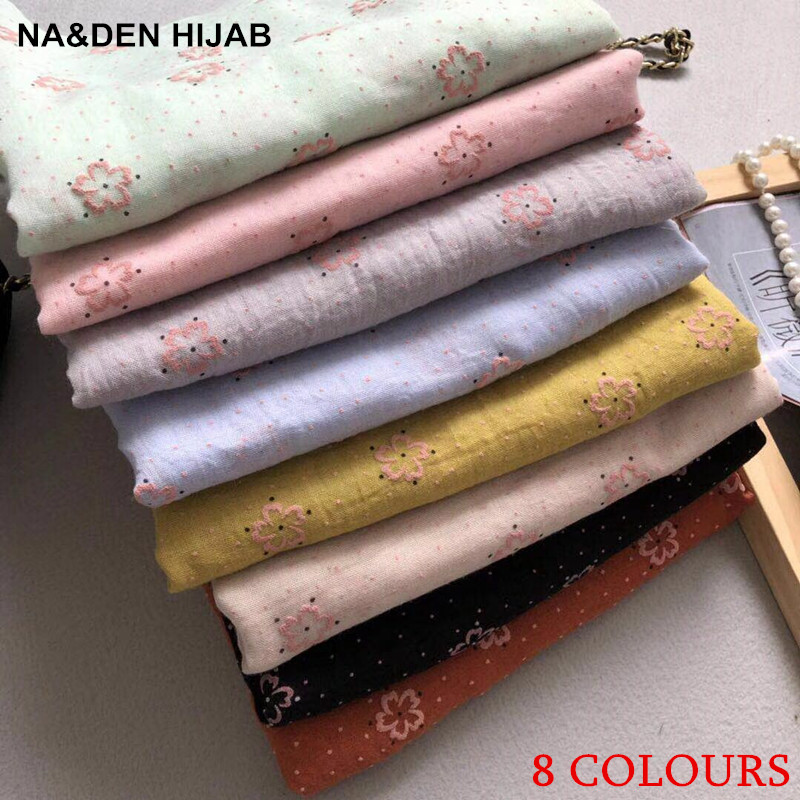 2018 new scarf summer flower pattern scarves shawls cotton viscose long shawl women popular muslim hijab
