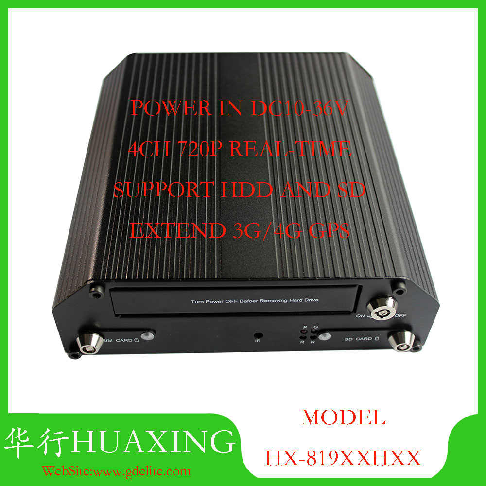Factory outlet Mobile DVR 4CH AHD 720 P Dukungan 256 GB SD mdvr dan HDD dengan rusia H.264 mdvr opsional 3G 4G GPS WIFI fungsi