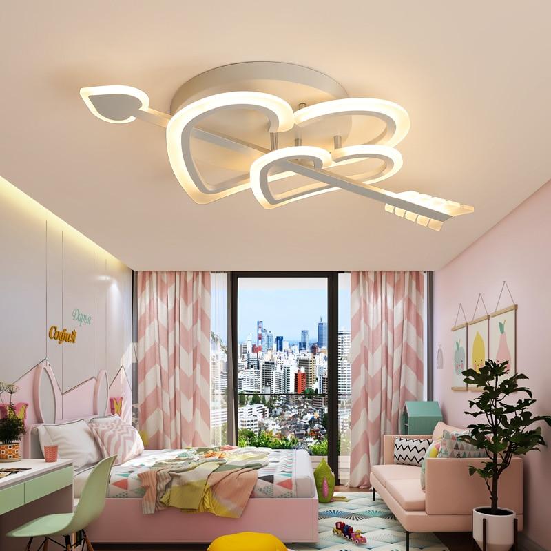Креативная личность, светодиодные потолочные светильники, любовь, простая романтическая свадебная комната для девочек, лампа для спальни, ...
