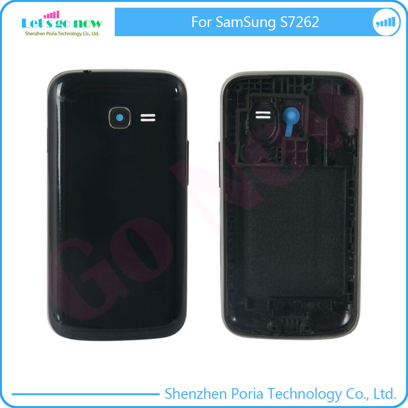 big sale 7402e 9534c Original Back Cover New Placement For Samsung Galaxy S7262 Battery Door  Middle Frame Full Housing Case + Buttons