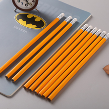 50PCS Yellow Wooden Pencils HB Pencil With Eraser Head School Student Stationery Kids Writing Painting Pencil Office Supplies цена
