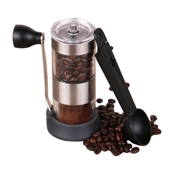 цена на Coffee Grinder Washable Ceramic Core Hand Mini Portable Manual Coffee Bean Burr Grinders Mill Kitchen Tool with a coffee spoon